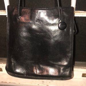 💐 MONSAC Black leather bag 💼